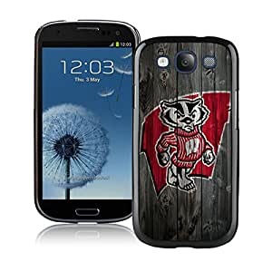 NCAA Wisconsin Badgers 5 Black Customize Samsung Galaxy S3 I9300 Phone Cover Case