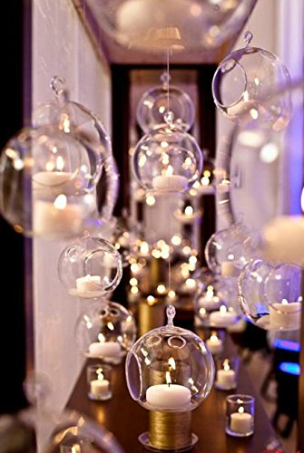 2 3/4'' Hanging Glass Globe, Terrarium Candle Holder Bulk | Sold by Case of 6 | 2 day sale only by Ohah