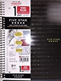 Five Star Patterned Spiral Notebook 1 Subject Wide Ruled, Black