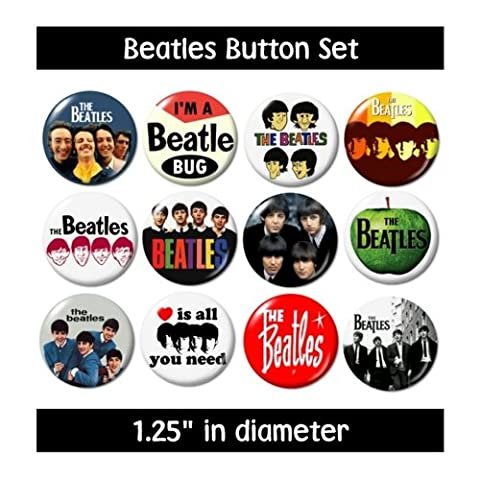 THE BEATLES BUTTONS PINS badges music lennon starr mccartney harrison new (Beatles Gifts For Kids)