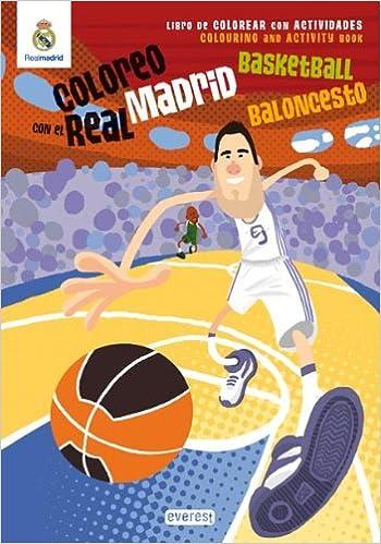 Coloreo con el Real Madrid. Baloncesto - Basketball: Libro ...