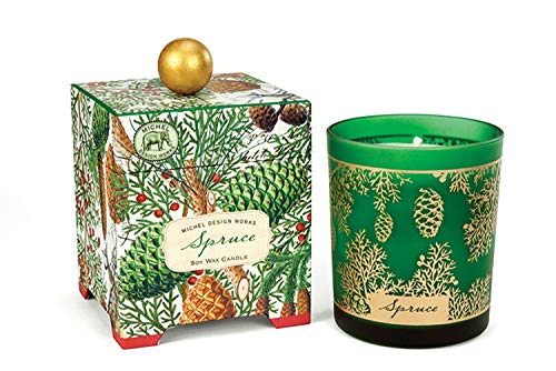 - Michel Design Works Gift Boxed Soy Wax Candle, 14-Ounce, Spruce