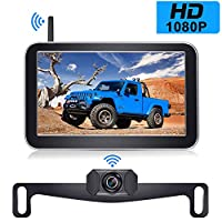 DoHonest Digital Wireless Backup Camera Kit with 7 Inch HD 1080P Monitor Stable Digital Signal Rear View Camera for Cars Pickups Trucks Campers – V29