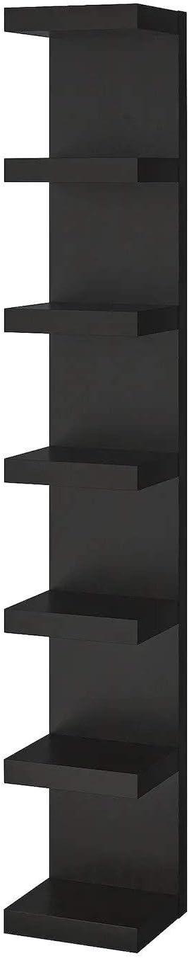 Ik ea Lack - Librería, marrón-negro, 30 x 190 cm: Amazon.es ...