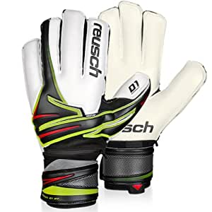 Reusch Argos D1 Ortho Tec Goalie Glove, Black/White, 7