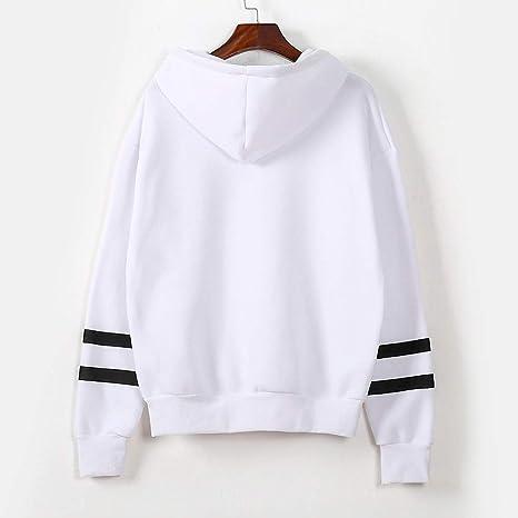 VEMOW damska bluza z kapturem, czerwona list nadruk z długim rękawem czarna bluza bluza topy: Odzież