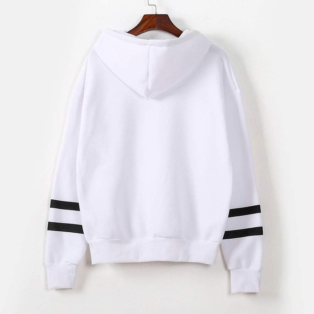 Women Hoodies Pullover Outwear Cute Potato Heart Print Loose Long Sleeve Girls Casual Sweatshirts Tops