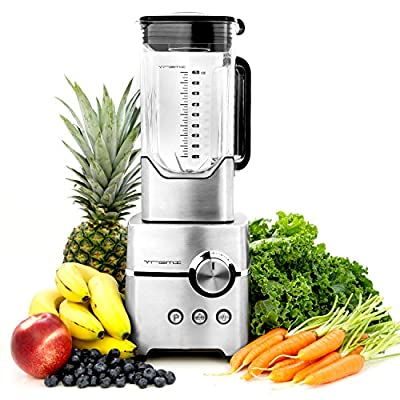 Vremi Professional Kitchen Blender for Smoothies; Powerful High Speed Drink Mixer and Ice Crusher; 1400 Watt, 4 Blade, Large 8 Cup Pitcher
