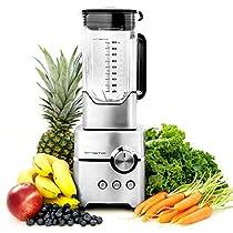 Vremi VR0006 Professional Kitchen Blender for Smoothies, Chrome