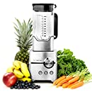 Vremi Professional Kitchen Blender - Powerful 1400 Watt Commercial Heavy Duty Smoothie Blender with Large 8 Cup Pitcher - 4 Blade Electric High Speed Stainless Steel Pro Immersion Ice Crusher - Silver