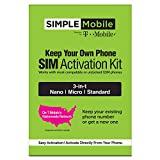 ($25 eGift Card Promotion) Simple Mobile Keep Your Own Phone 3-in-1 Prepaid SIM Kit: more info