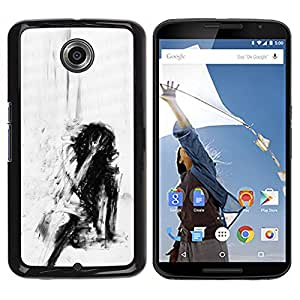 iKiki Tech / Estuche rígido - Depression Deep Emo Black - Motorola NEXUS 6 / X / Moto X Pro