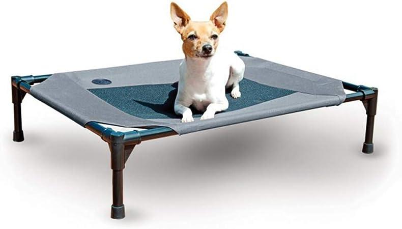UTOPIAY Cama Mascota para Perros Gatos Camas para Domir Relajar Exterior Terraza Jardín Malla de Ventilación elevada Cama portátil para Camping con Resistente,Blue,107 * 76 * 16cm: Amazon.es: Hogar