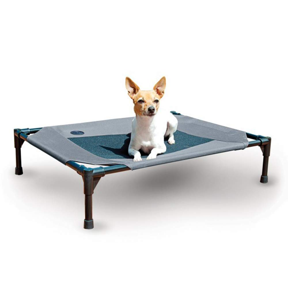 bluee 1077616cm bluee 1077616cm Elevated Dog Bed Comfortable for Any Dog More hygienic Than Padded beds Portable Camping Bed with Sturdy Frame,bluee,107  76  16cm