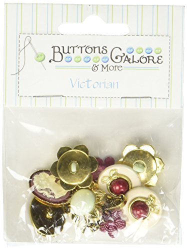 Buttons Galore BTP-4410 Button Theme Pack, Victorian Treasures (Needle Embellishment)