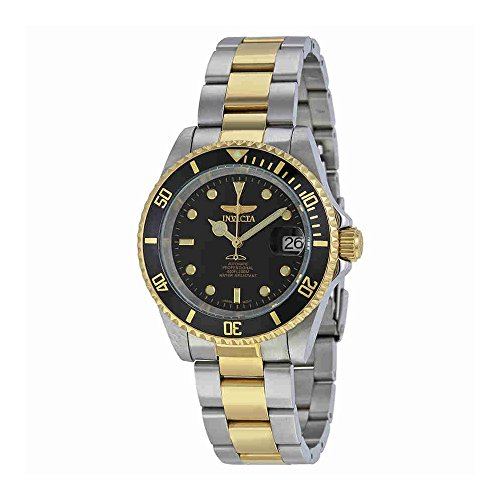 Invicta Men's 8927OB Pro Diver 18k Gold Ion-Plated and Stainless Steel Watch, Two (Black Ion Stainless Steel Watch)