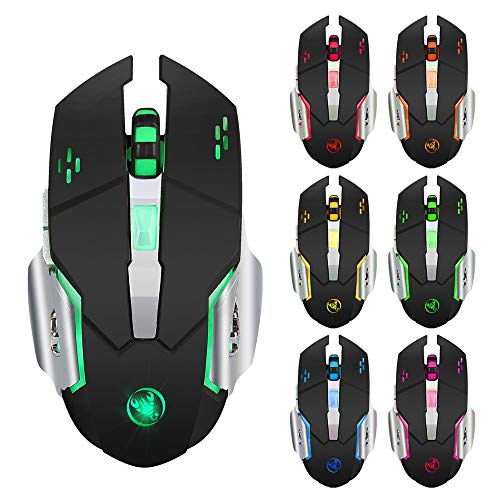 Ergonomic Wireless Gaming Mouse,EDTO No Delay Mice with 5 Buttons + USB Receiver Backlight