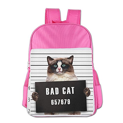 (Mokjeiij Bad Gang Cat In Jail Kitty Under Arrest Criminal Prisoner Unisex Girls Boys School Backpack Children's)