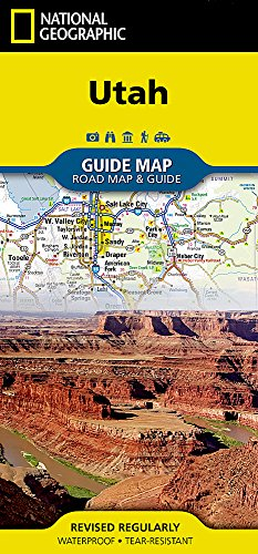 Utah (National Geographic Guide Map)