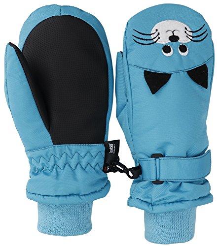Livingston Children's Thinsulate Lining Waterproof Ski Mittens w/Animal Designs – DiZiSports Store