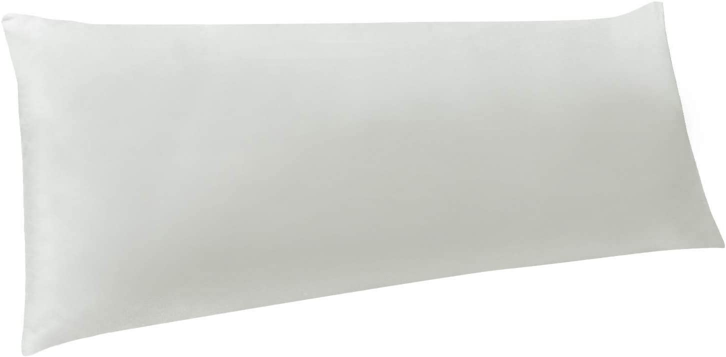 """NTBAY Body Pillow Cover, Pillowcases, 100% Brushed Microfiber, Soft and Cozy, Envelope Closure, for Adults Pregnant Women, 20"""" x 54"""", Light Grey"""