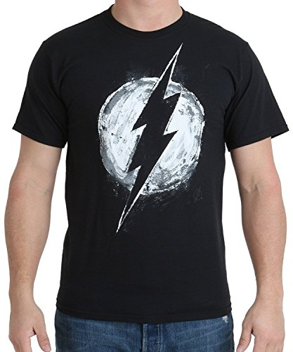 DC Comics Men's Flash Chalk Logo T-shirt
