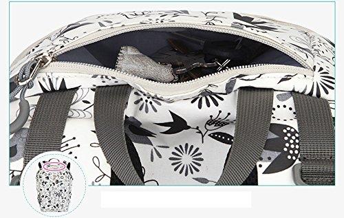 Bolso de múltiples funciones de la mam3a de la capacidad grande, bolso de la madre de la función del hombro de la manera, maternal y niño suministra el paquete ( Color : Verde ) Blanco