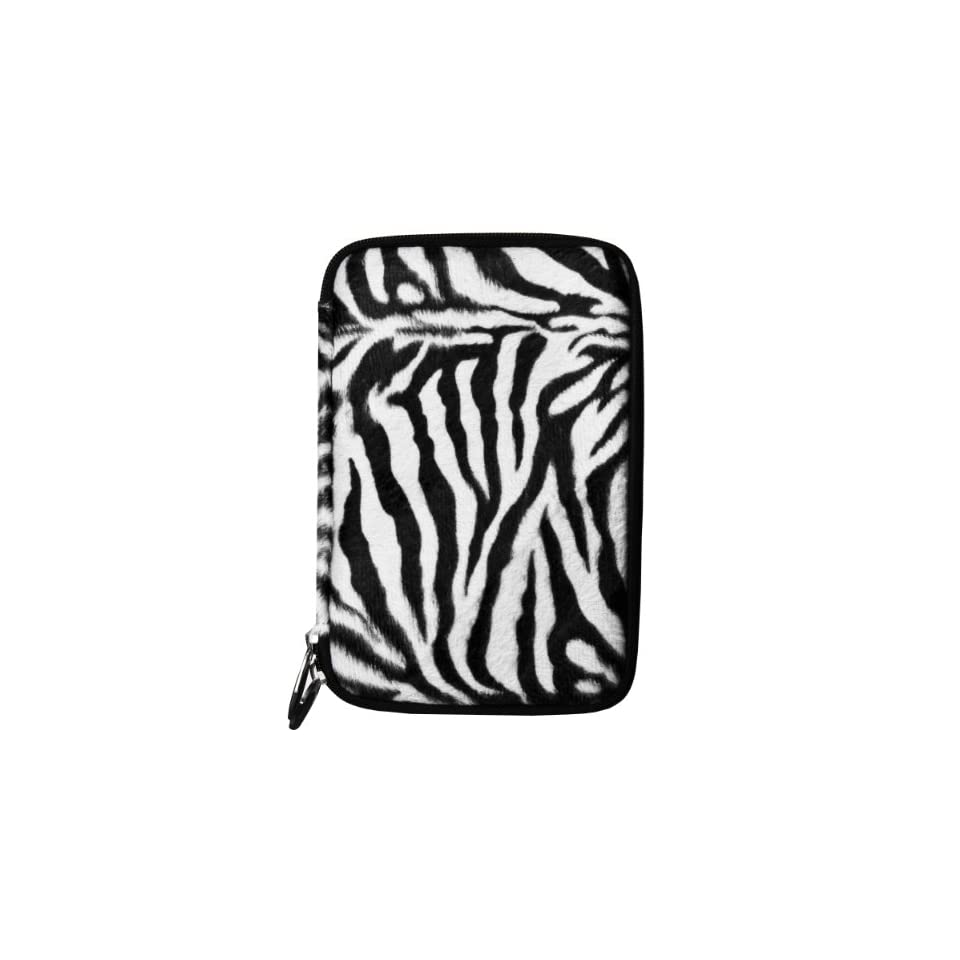 (Black White Zebra) VG Animal Print Carrying Case with Faux Fur Exterior for Visual Land Prestige 7 Internet Tablet (ME 107 8GB) / Visual Land Prestige 7L (ME 107 L 8GB) 7 inch Android Tablet Computers & Accessories