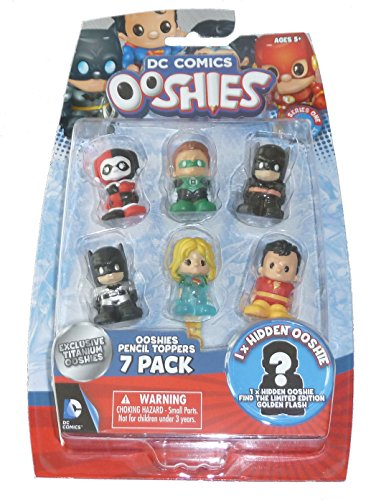 """Ooshies Set 1 """"DC Comics Series 1"""" Action Figure (7 Pack)"""