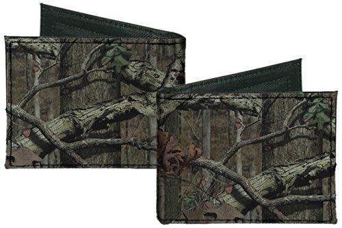 Mossy Oak Break Up Infinity Camo Camouflage Canvas Bi-Fold (Mossy Oak Bi Fold Wallet)