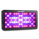 Global Star G(sb)D60x6w Horticulture Full Spectrum 360w LED Grow Light for Indoor Plant Growing,one Switch for Leaf,another for Flowering (Black)