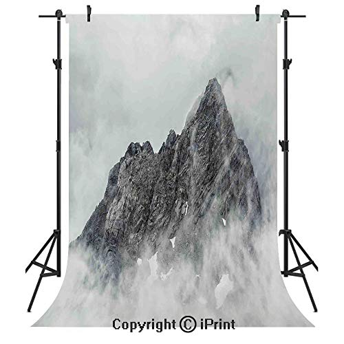 Farmhouse Decor Photography Backdrops,Landscape of Jade Dragon Mountain Atmosphere on Summit Asian Natural Beauty,Birthday Party Seamless Photo Studio Booth Background Banner 10x20ft,White Grey - Farmhouse Story