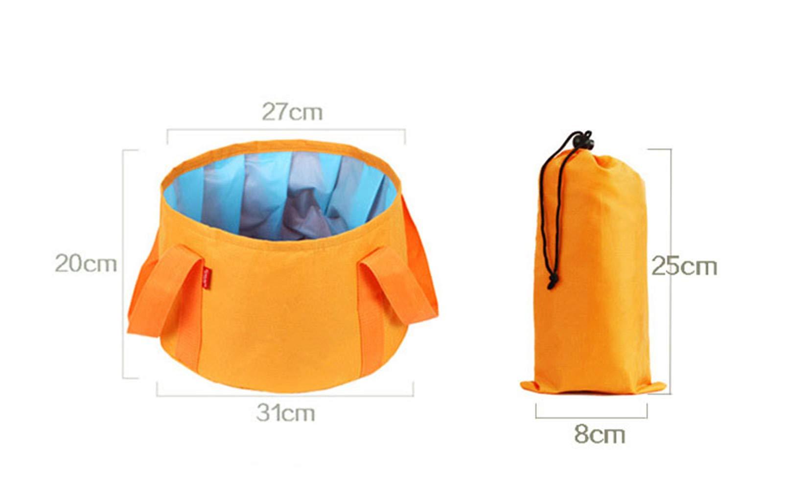 Modi Multifunctional Collapsible Portable Travel Outdoor Wash Basin Folding Bucket for Camping Hiking Travelling Fishing Washing (Camouflage Blue)