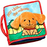 ToBeReadyForLife CLOTH BOOK Baby Soft Books for Newborn Babies, 1 Year Old & Toddler, Educational Toy for Boy & Girl, Touch and Feel Activity, Crinkle Peekaboo, Gift Box, Interactive Baby Shower Gifts, Washable Fabric