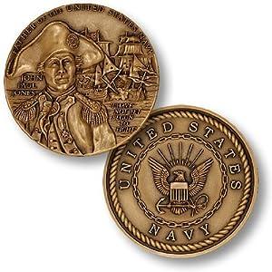 John Paul Jones Navy Challenge Coin