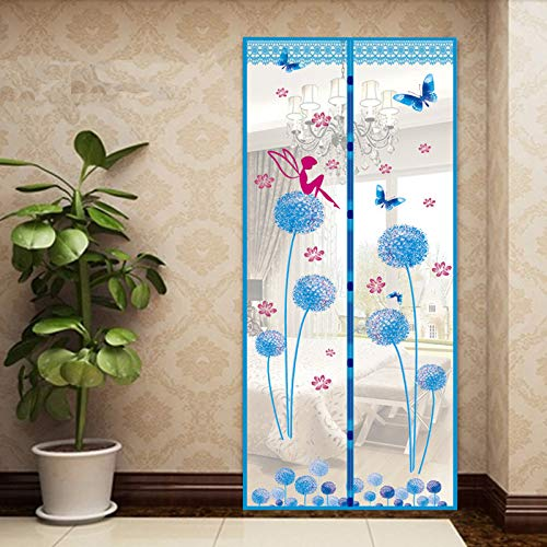 XNJHMS Summer Style Closing Mesh Mosquito Net Window Screens Curtain Anti Mosquito Magnetic Tulle Shower Curtain Door ()
