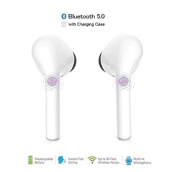 Sigmateles Audífonos inalámbricos Bluetooth Noisecancel True Stereo Sport Auriculares intrauditivos Dobles con Estuche de Carga para Todos los teléfonos Inteligentes, tabletas, MP3, MP4