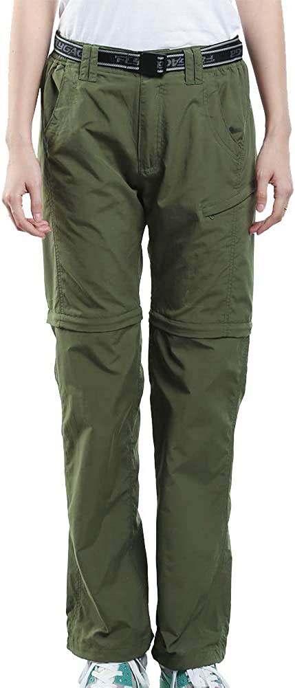 JOMLUN Women's Quick Dry Outdoor Pants Breathable Lightweight Zip Off Pant for Hiking Camping