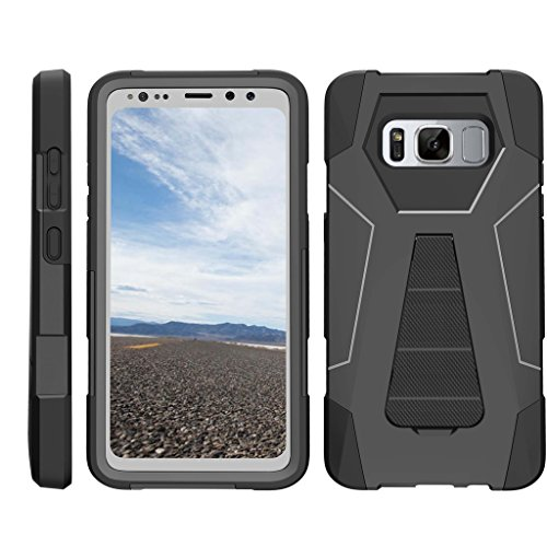 TurtleArmor | Samsung Galaxy S8 Active Case | G892 [Dynamic Shell] Impact Hard Kickstand Hybrid Shock Silicone Cover Robot Military Army Design –
