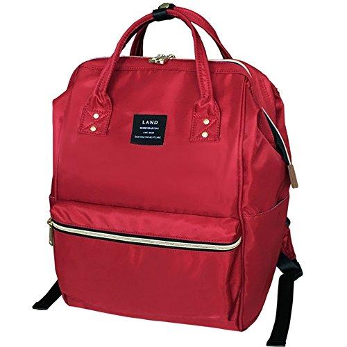 Hombro doble del color sólido, bolso de la momia de la capacidad grande, morral, bolsos de la momia, bolsos maternos e infantiles, bolso de múltiples funciones de la momia ( Color : Negro ) Rojo
