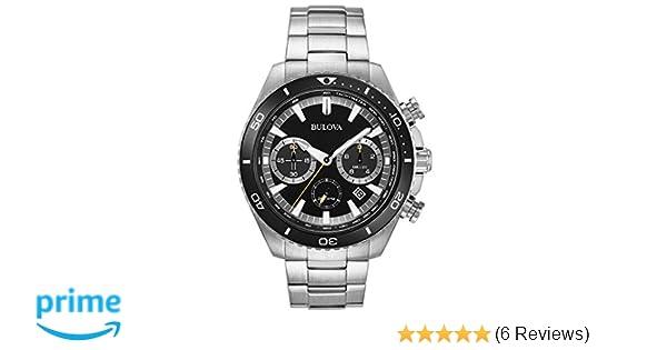 Amazon.com: Bulova High Frequency Quartz Chronograph Silver Tone Mens Watch 98B298: Watches