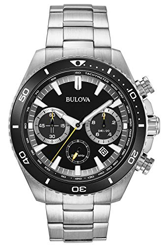 - Bulova High Frequency Quartz Chronograph Silver Tone Men's Watch 98B298