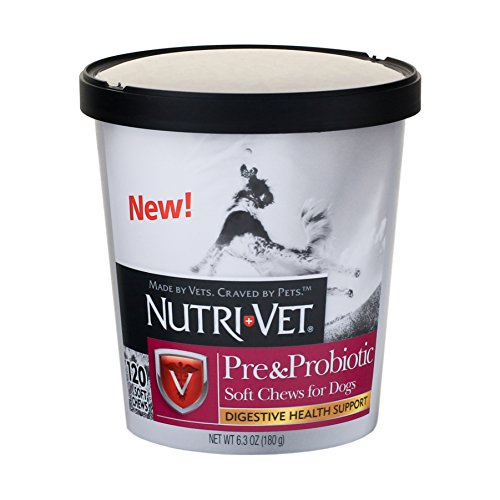 Nutri-Vet Pre and Probiotic Soft Chew, 120 Count by Nutri-Vet