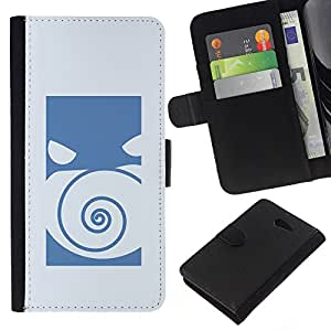 NEECELL GIFT forCITY // Billetera de cuero Caso Cubierta de protección Carcasa / Leather Wallet Case for Sony Xperia M2 // Empuje Monster