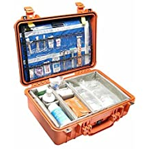 Pelican 1500 Ems Organizer Watertight Hard Case With Dividers & Lid Organizer