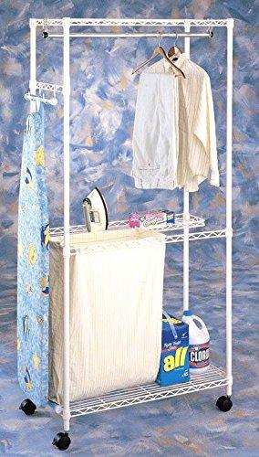 Laundry Cart w Hanging Rail ()