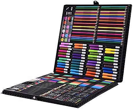 Zjcpow Estuches de Dibujo del Arte Set de Arte de lápices para Colorear de 288 Piezas para Dibujar, niños, Artistas, Principiantes para Niños (Color : Black, Size : Free Size): Amazon.es: Hogar