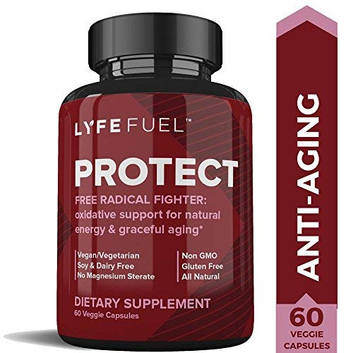Liver Support Glutathione Supplement by LYFE Fuel - Super Antioxidants for Natural Energy & Mitochondria Health - Milk Thistle, Pomegranate, Quercetin, Green Tea, Alpha Lipoic Acid, NAC (60 Capsules)