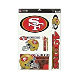 WinCraft San Francisco 49ers Official NFL 11 inch x 17 inch Car Window Cling Decal by 037534