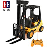 Double E 17 Channel RC Excavator Three in one Metal Shovel Remote Control Construction Tractor with 2 Bonus Drill and Grasp